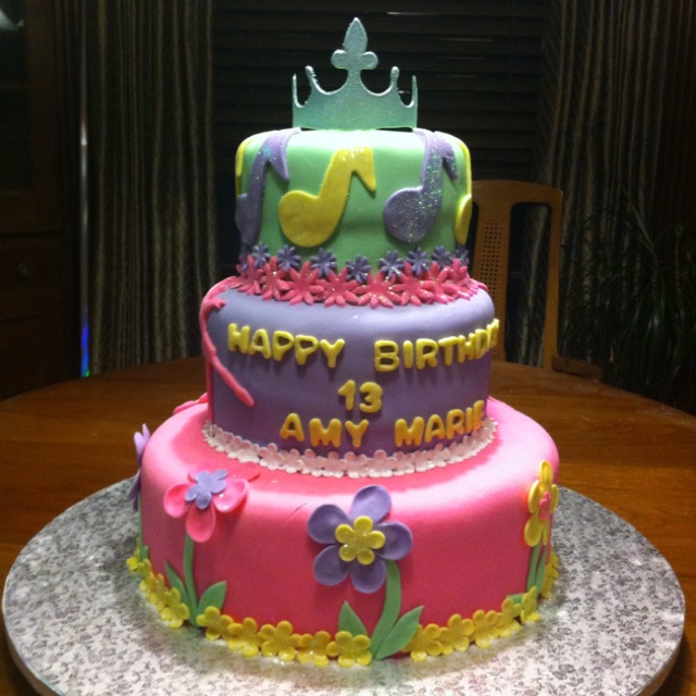 13th Birthday Cake Ideas 22 Best 13 Year Old Party Images On Pinterest