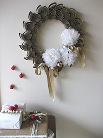 """I made this-- and I am """"In Love"""" -- except in true me form I spray painted it Silver -- added bling and nixed the tissue paper flowers and did cardboard star flowers instead!  Did I say <3 ;)"""