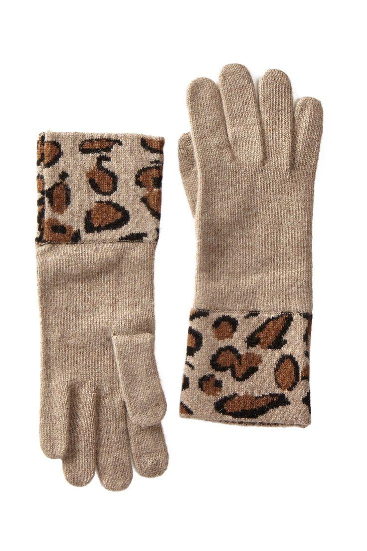 Leopard Cuff Jersey Gloves