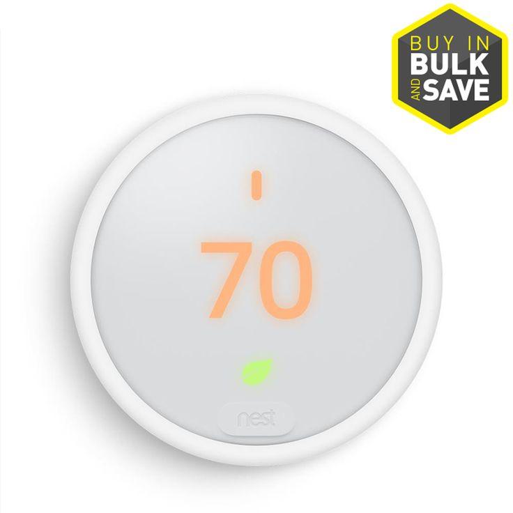 Google nest smart thermostat e white nest