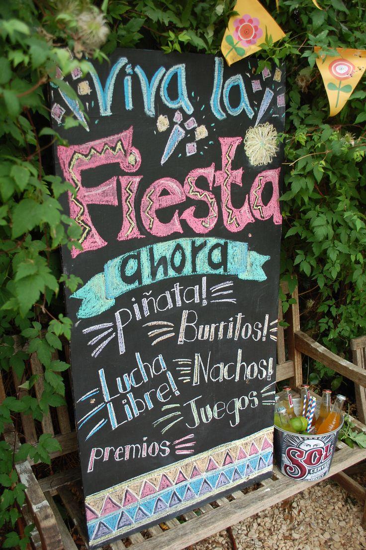 Fiesta chalkboard