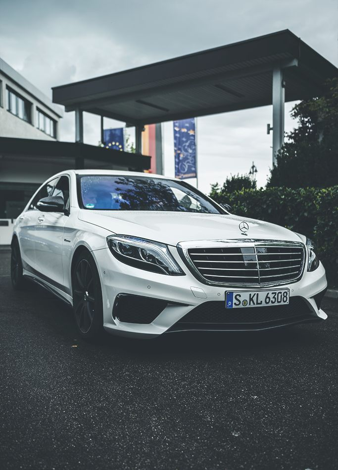 Amg a class white dress.
