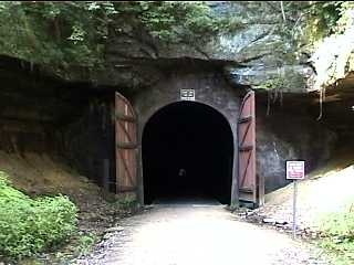 Tunnel #1 on the Elroy-Sparta bike trail