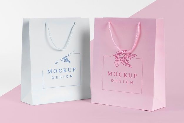 Download Download Paper Bag Concept With Mock Up For Free In 2021 Bag Mockup Paper Bag Mockup