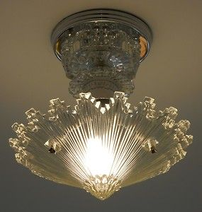 c 30u0027s art deco vintage ceiling light fixture chandelier american antique lamp ebay - Antique Light Fixtures