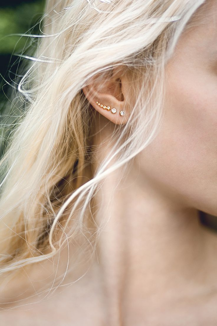 @Hvisk jewellery Model: me Photo by @louisstilling #blonde #hair #jewelry #gold #photography #model