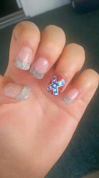 20 ide rebel flag nails terbaik di pinterest camo nail art ide i dunno about the rebel flag but love the idea prinsesfo Image collections
