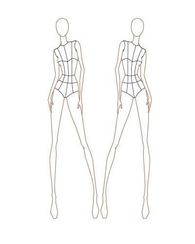 croquis i'll be using | Fashion Templates | Pinterest ...
