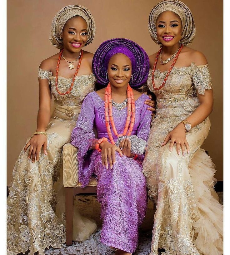 The bride @solaolofin and  her sisters  #stunning #soltee2016  Photo by @laphyphotography  Make up by @facesbylabisi Aso oke by @deroyalfabrics Beads by @lush_jewels Event by @bisolatrendybee  #weddingdigest #WeddingDigestNaija