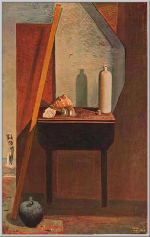 Mario Tozzi 1942: Natura Morta con Venere. Olio su Tela cm.116x72 - Collezione Privata Napoli - Archivio n.333 - Catalogo Generale dei Dipinti n.42/12.