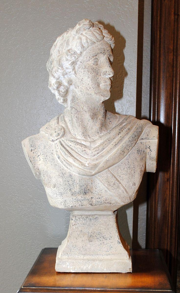 Greek Deity Apollo Bust on a Pedestal