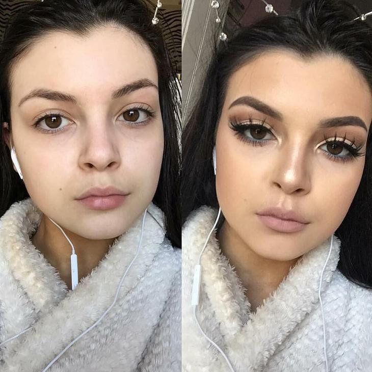 при изготовлении сила макияжа фото до и после топливо