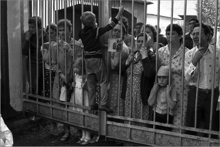 Родительский день в пионерлагере. Зенково. Прокопьевский район. 14.07.1985 год.