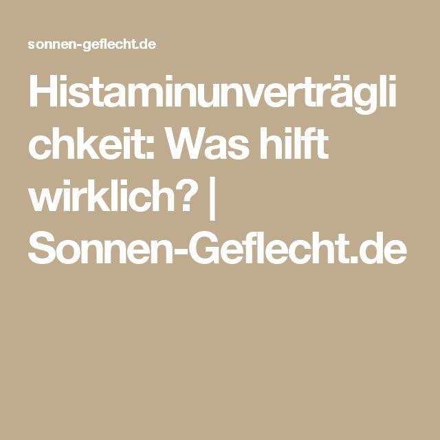 Histaminunverträglichkeit: Was hilft wirklich? | Sonnen-Geflecht.de