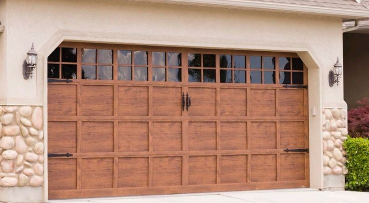 21 best garage doors martin pinnacle faux wood finish for Faux wood finish garage door