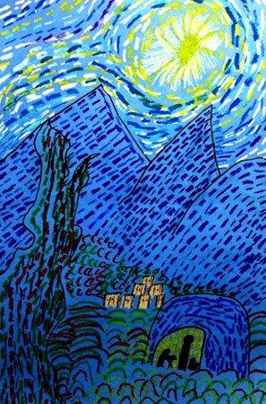Starry Night in Bethlehem 2nd grade