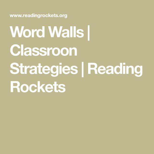 Word Walls | Classroon Strategies | Reading Rockets