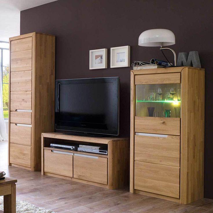 TV Anbauwand Aus Wildeiche Massivholz Modern (3 Teilig) Jetzt Bestellen  Unter: Https