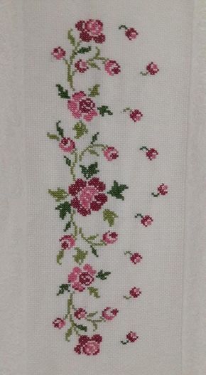 Rosenborte [] # # #Cross #Stitch, # #Cross #Stitch