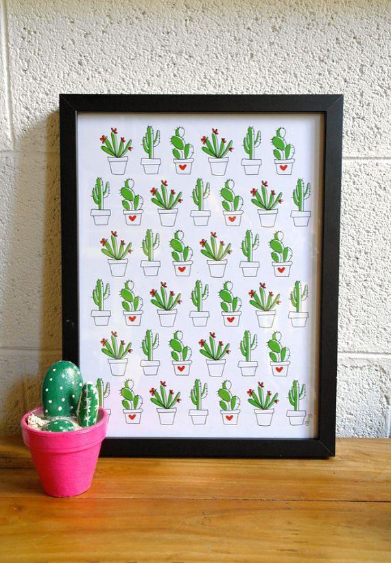 """Affiche """"Cactus"""""""