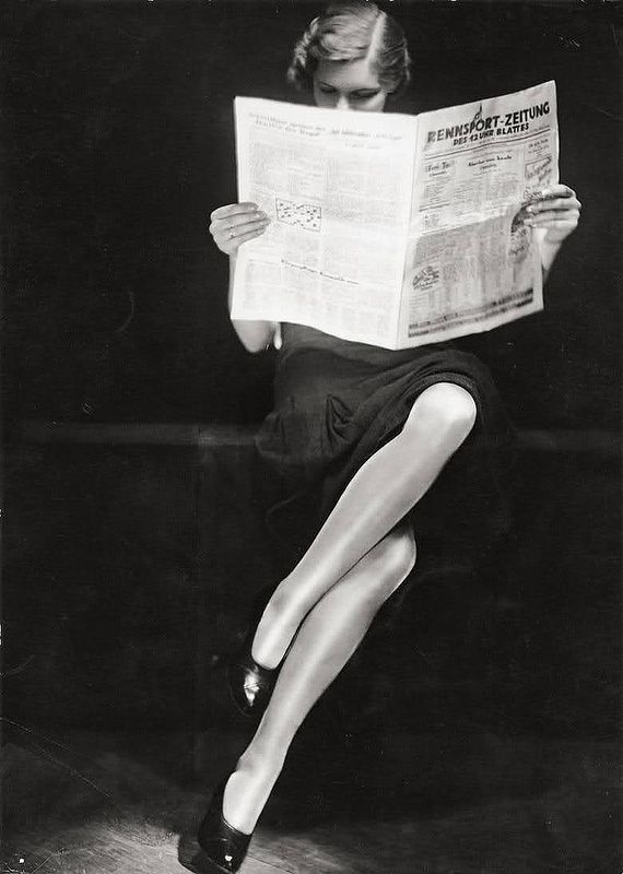 Photo: Yva (Else Neulander-Simon), 1932. A teenaged Helmut Newton was her assistant briefly. He escaped Nazi Germany, but Yva did not; she died in a concentration camp in 1942. KA