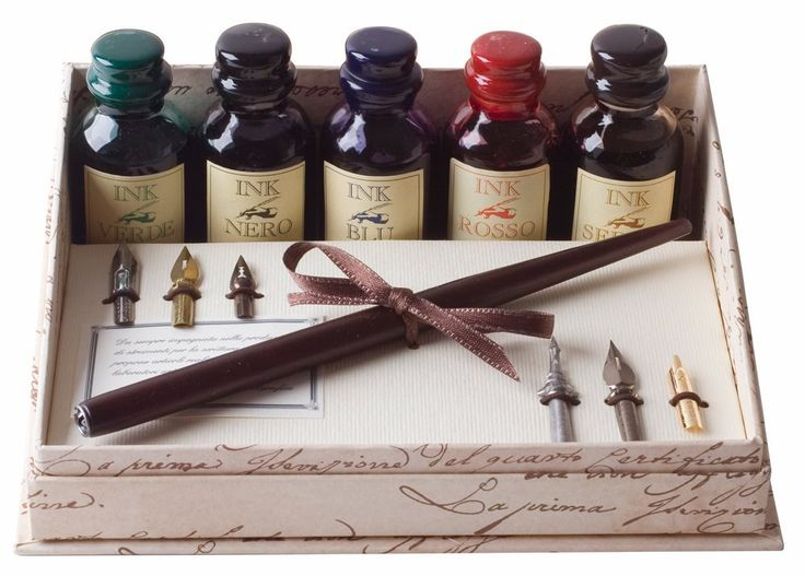 Coles Calligraphy Set Includes Wooden Dip Pen Large Ink