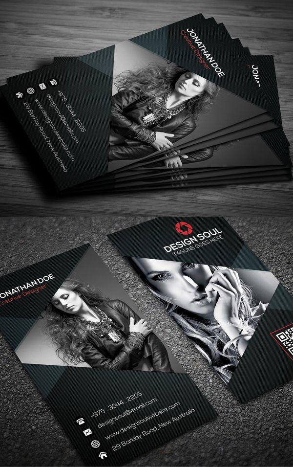 Fotografía de la tarjeta de visita del diseño # 2