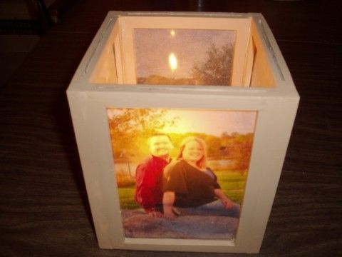 DIY Photo Lantern Center Pieces