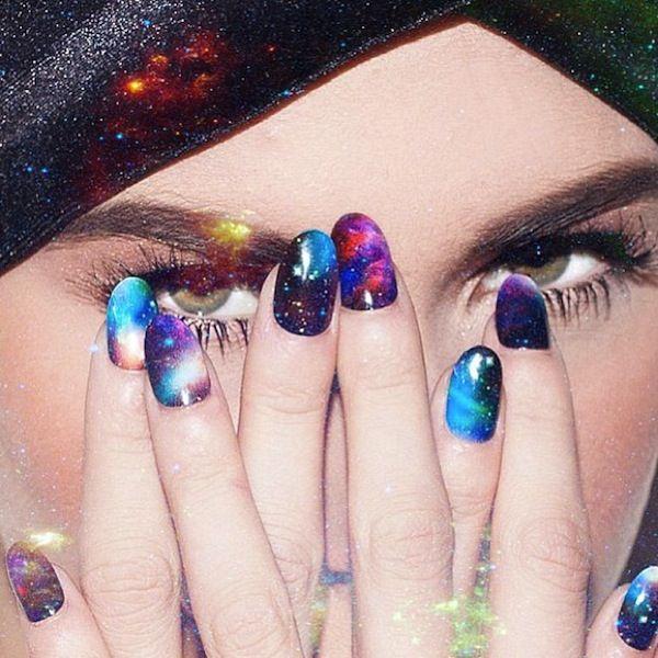multi-colored galaxy