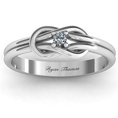 Love Knot Ring with child's birthstone & name engraved. Love it!!!