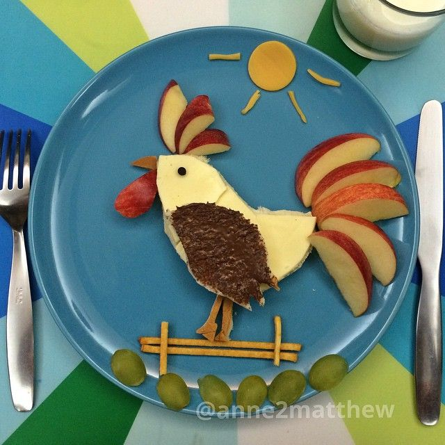 #cockadoodledoo Good morning #rooster #kidsfood