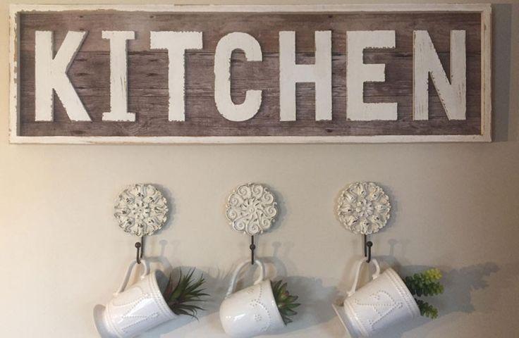 Kitchen sign large kitchen sign farmhouse vintage