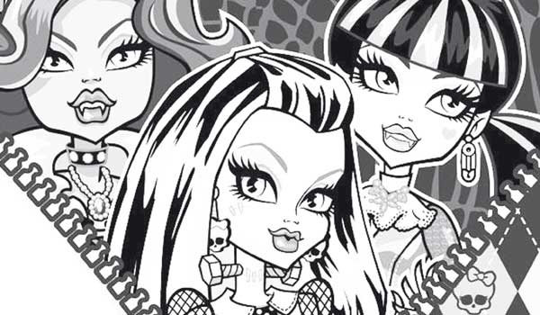 Dibujos Para Colorear De Monster High Para Imprimir: Dibujo Para Colorear Chicas Monster High
