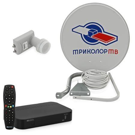 Комплект спутникового телевидения Триколор ТВ Full HD Европа на 2 телевизора / HD-приставка GS B521 (не для продажи в Сибирском ФО)  — 6990 руб. —  Многотюнерная приставка GS B521 создана специально для абонентов «Триколор ТВ». Пользователь получает не только более 200 каналов в цифровом качестве,  но и возможность просматривать разный контент одновременно с двух экранов - и на телевизоре, и на мобильном устройстве.  Приставка имеет два тюнера DVB-S/DVB-S2, один из которых отвечает за…