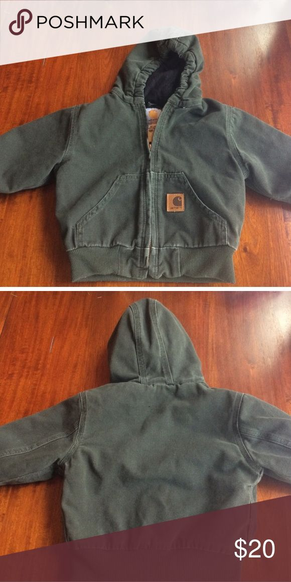 Carhartt winter coat Carhartt toddler sz 2 T green coat. Great for fall,spring and winter. Still lots of life left to this Carhartt Jackets & Coats