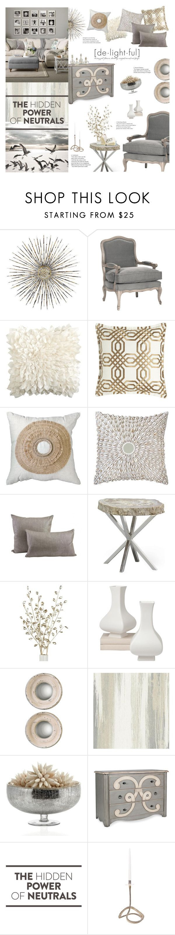 """Fade To Grey"" by happilyjynxed ❤ liked on Polyvore featuring interior, interiors, interior design, home, home decor, interior decorating, Frontgate, Pier 1 Imports, Bandhini Homewear Design and Jayson Home"
