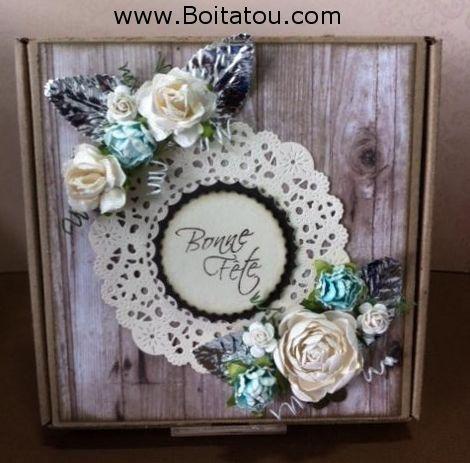 Création de Louise pour le concours BlogHop-PinFest de la boutique l'Art du Scrapbooking et la compagnie Boitatou.