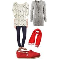 Red Toms Outfit $49