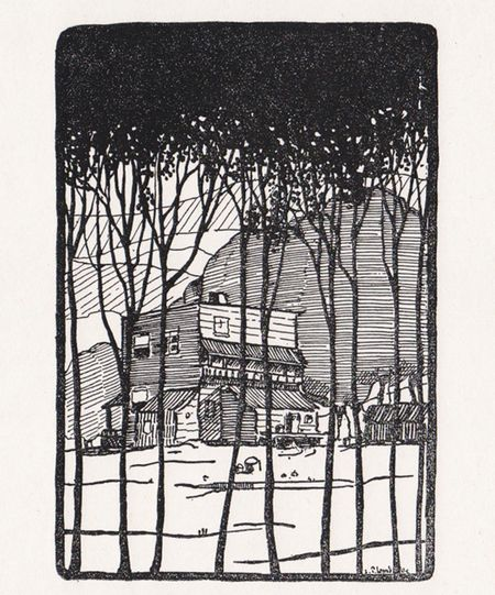 Edwin Holgate's influence can be seen in this illustration of Lemieux's that was included in the first chapter of Robert Choquette's La pension Leblanc (1927), a novel about a boarding house for tourists north of Montreal. #ArtCanInstitute