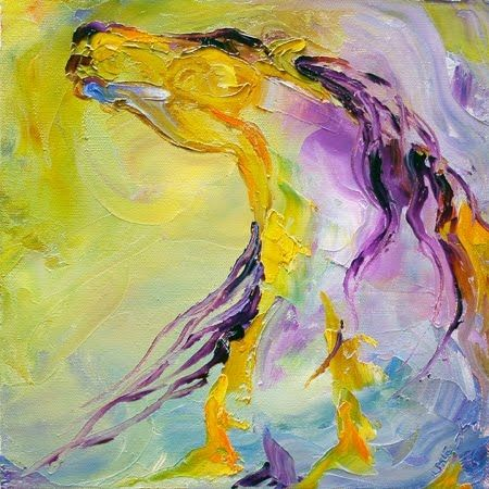 'Spirit Sun Dance' Colorful Horse Equine Art Daily Oil Painting by Texas Artist Laurie Pace, painting by artist Laurie Justus Pace