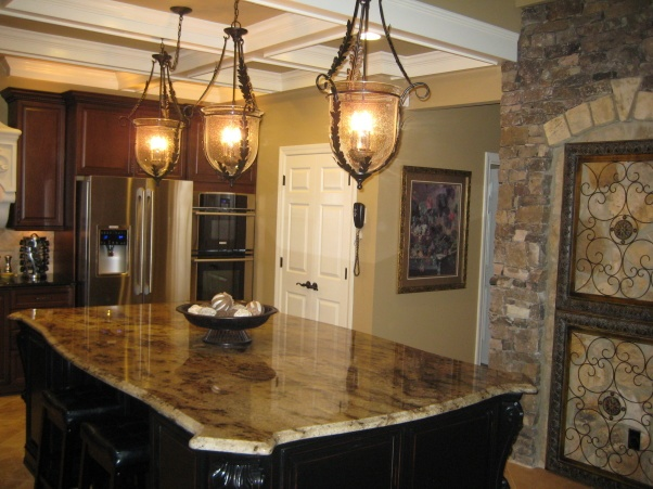 Tuscan Inspired Kitchen: Dark Kitchens, Houses Renovation, Dreams Kitchens, Dreams Houses, Dreams House I L, Houses Ideas, Amazing Houses, Pendants Lights, Houses Items