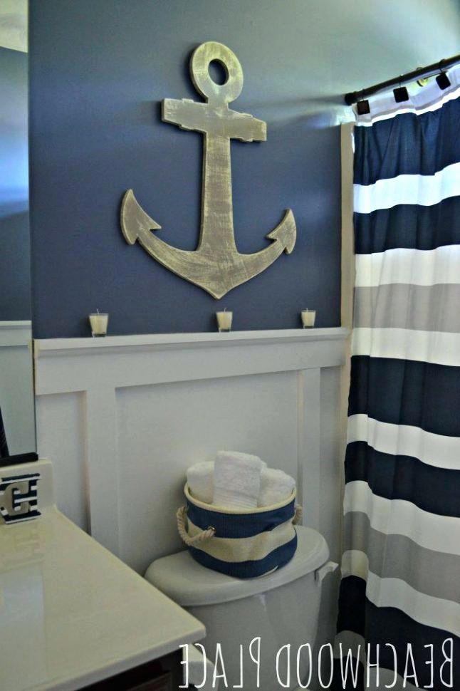 Anchor Themed Bathroom Decor Elegant Nautical Theme Bathroom 2 9 Boat Themed Bathroom In 2020 Nautical Theme Bathroom Nautical Bathroom Decor Nautical Bathrooms