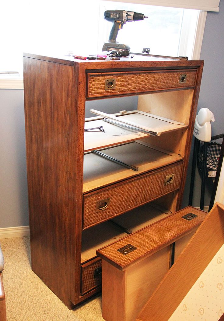 Best Mcm Dresser Rescue With New Hardware And Drawer Slides 640 x 480