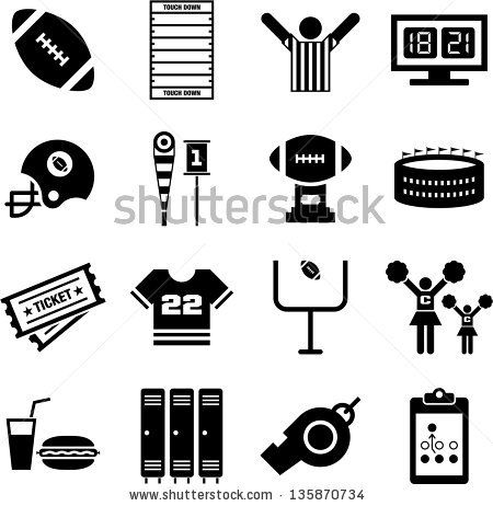 American Football icons by andromina, via Shutterstock