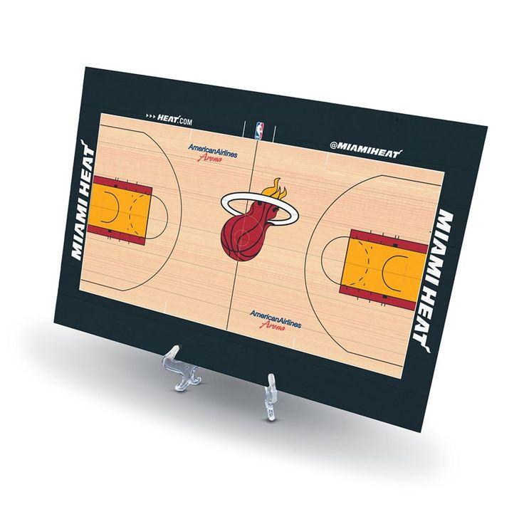 Miami Heat Replica Basketball Court Display, Size: Novelty, Multicolor
