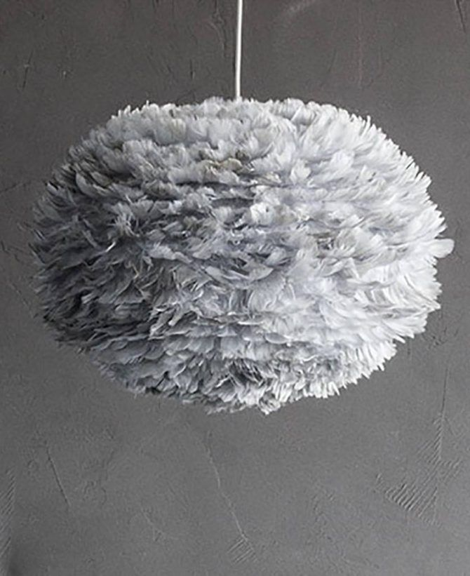 Feather Pendant Light Umage White Feather Ceiling Light Feather Light Shade Feather Lamp Bedroom Ceiling Light