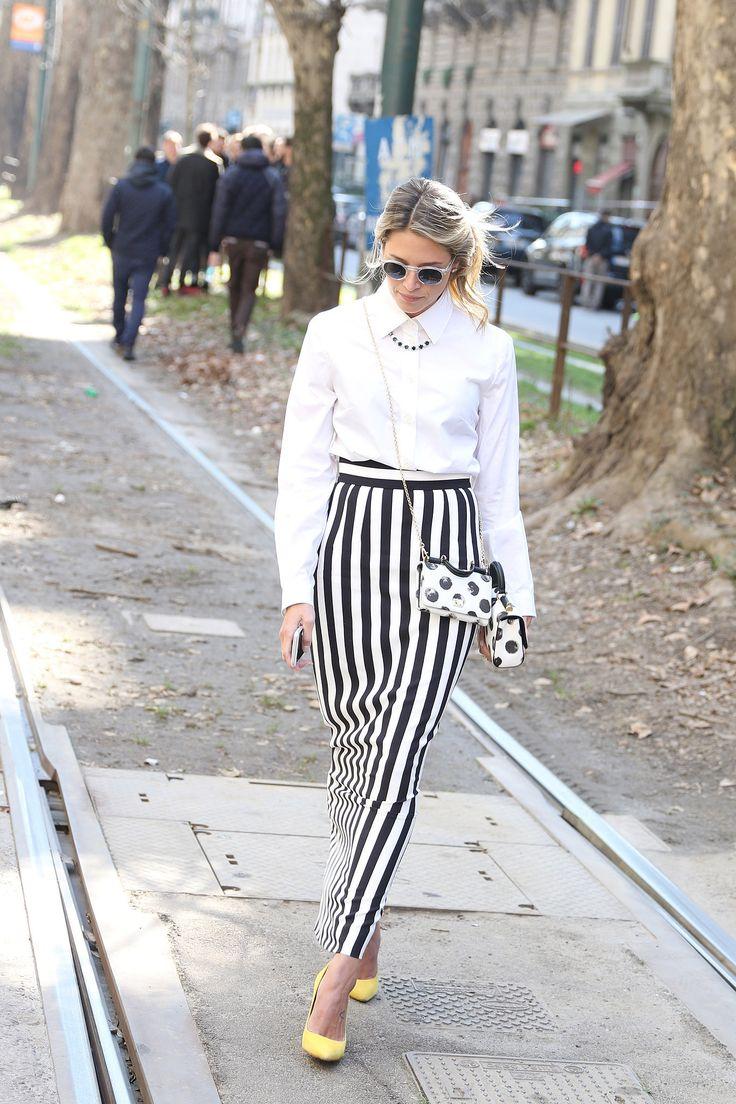 MFW Street Style - Helena Bordon in Dolce&Gabbana