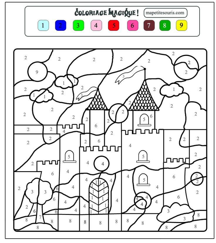 Cijfertekening kasteel