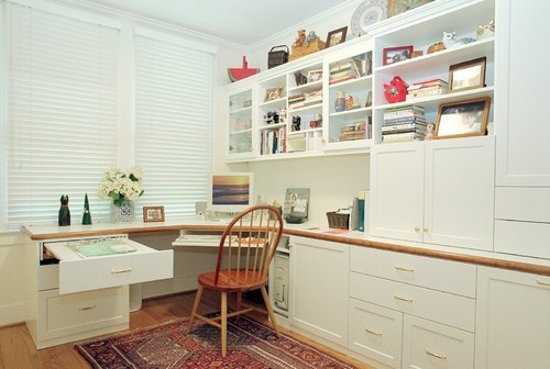 Malka In The Closet contemporary home office