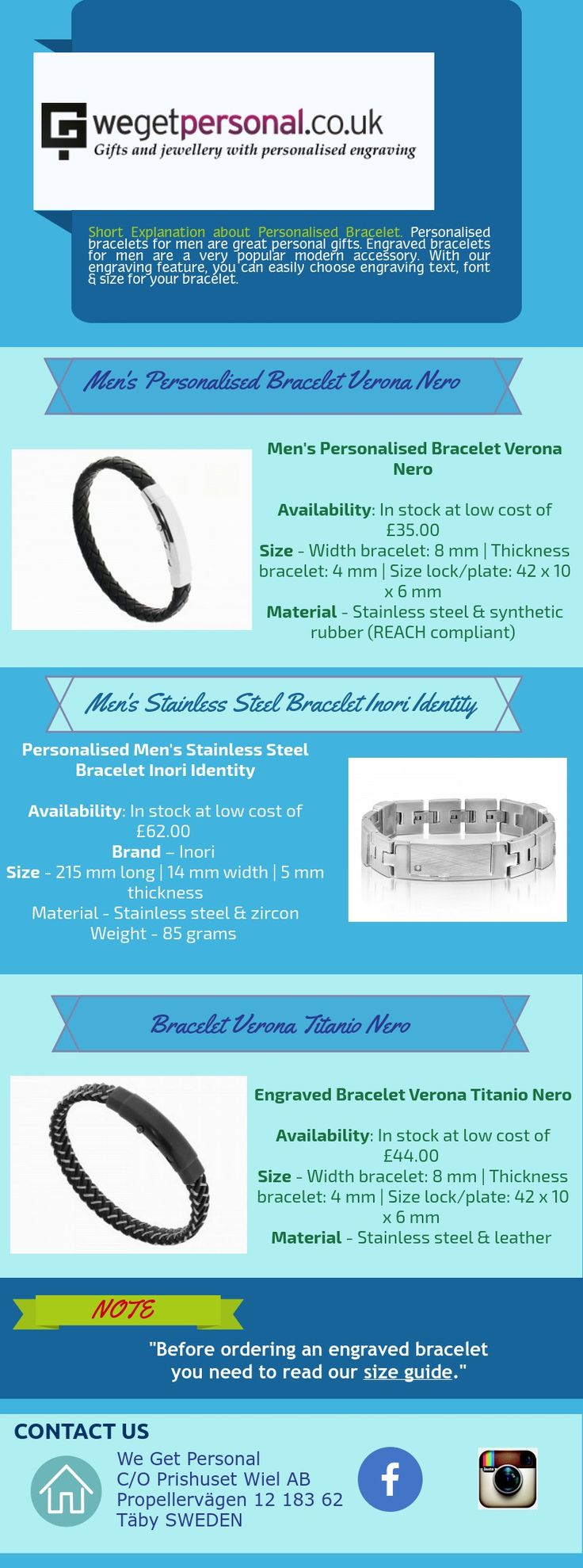 If you are searching Personalised bracelet to your friend or personal use, We Get Personal UK is the place where you can get many types of engraved bracelet